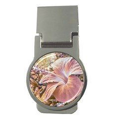 Fantasy Colors Hibiscus Flower Digital Photography Money Clip (round) by dflcprints