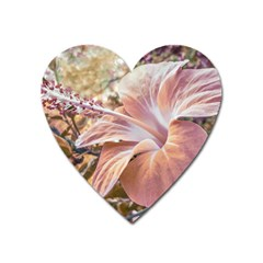 Fantasy Colors Hibiscus Flower Digital Photography Magnet (heart) by dflcprints