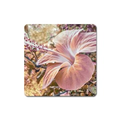 Fantasy Colors Hibiscus Flower Digital Photography Magnet (square) by dflcprints