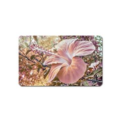 Fantasy Colors Hibiscus Flower Digital Photography Magnet (name Card) by dflcprints