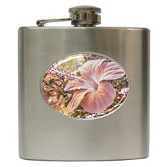 Fantasy Colors Hibiscus Flower Digital Photography Hip Flask by dflcprints