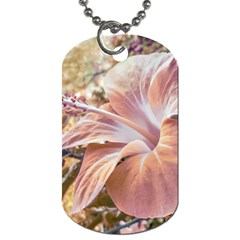 Fantasy Colors Hibiscus Flower Digital Photography Dog Tag (two Sided)  by dflcprints