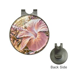 Fantasy Colors Hibiscus Flower Digital Photography Hat Clip With Golf Ball Marker by dflcprints