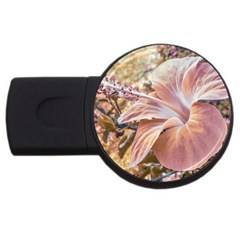 Fantasy Colors Hibiscus Flower Digital Photography 4gb Usb Flash Drive (round) by dflcprints