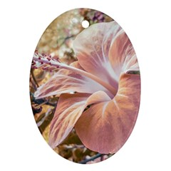 Fantasy Colors Hibiscus Flower Digital Photography Oval Ornament (two Sides) by dflcprints
