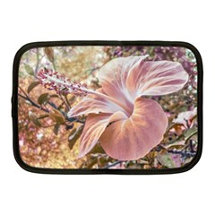 Fantasy Colors Hibiscus Flower Digital Photography Netbook Sleeve (medium) by dflcprints