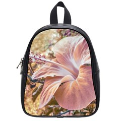 Fantasy Colors Hibiscus Flower Digital Photography School Bag (small) by dflcprints