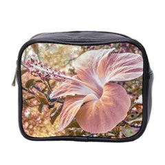 Fantasy Colors Hibiscus Flower Digital Photography Mini Travel Toiletry Bag (two Sides) by dflcprints