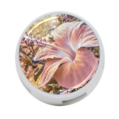 Fantasy Colors Hibiscus Flower Digital Photography 4 Port Usb Hub (one Side) by dflcprints