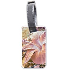 Fantasy Colors Hibiscus Flower Digital Photography Luggage Tag (two Sides) by dflcprints