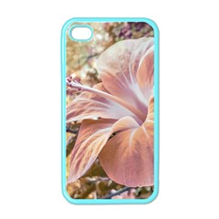 Fantasy Colors Hibiscus Flower Digital Photography Apple Iphone 4 Case (color) by dflcprints