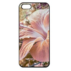 Fantasy Colors Hibiscus Flower Digital Photography Apple Iphone 5 Seamless Case (black) by dflcprints