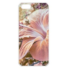 Fantasy Colors Hibiscus Flower Digital Photography Apple Iphone 5 Seamless Case (white) by dflcprints