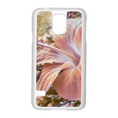 Fantasy Colors Hibiscus Flower Digital Photography Samsung Galaxy S5 Case (white) by dflcprints