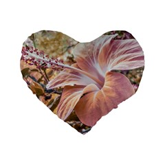 Fantasy Colors Hibiscus Flower Digital Photography 16  Premium Flano Heart Shape Cushion
