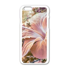 Fantasy Colors Hibiscus Flower Digital Photography Apple Iphone 6 White Enamel Case by dflcprints