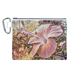 Fantasy Colors Hibiscus Flower Digital Photography Canvas Cosmetic Bag (large) by dflcprints