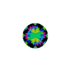Multicolored Floral Print Geometric Modern Pattern 1  Mini Button Magnet by dflcprints
