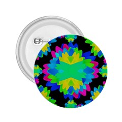 Multicolored Floral Print Geometric Modern Pattern 2 25  Button by dflcprints