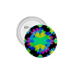 Multicolored Floral Print Geometric Modern Pattern 1 75  Button by dflcprints