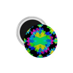 Multicolored Floral Print Geometric Modern Pattern 1 75  Button Magnet by dflcprints
