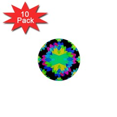 Multicolored Floral Print Geometric Modern Pattern 1  Mini Button Magnet (10 Pack) by dflcprints