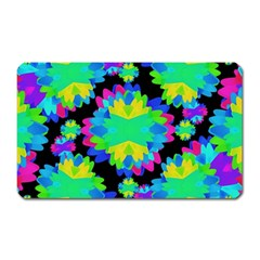 Multicolored Floral Print Geometric Modern Pattern Magnet (rectangular) by dflcprints