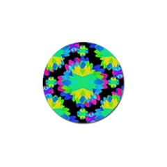 Multicolored Floral Print Geometric Modern Pattern Golf Ball Marker 4 Pack by dflcprints