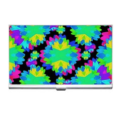 Multicolored Floral Print Geometric Modern Pattern Business Card Holder by dflcprints
