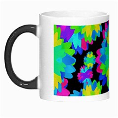 Multicolored Floral Print Geometric Modern Pattern Morph Mug by dflcprints