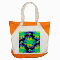 Multicolored Floral Print Geometric Modern Pattern Accent Tote Bag by dflcprints
