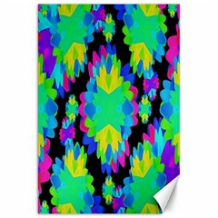 Multicolored Floral Print Geometric Modern Pattern Canvas 20  X 30  (unframed) by dflcprints