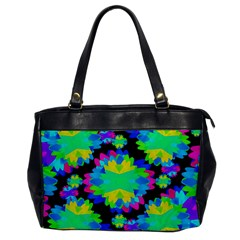 Multicolored Floral Print Geometric Modern Pattern Oversize Office Handbag (one Side)