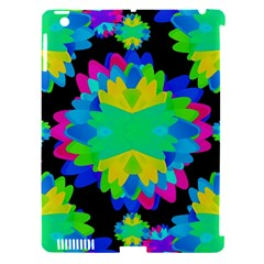 Multicolored Floral Print Geometric Modern Pattern Apple Ipad 3/4 Hardshell Case (compatible With Smart Cover)
