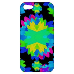 Multicolored Floral Print Geometric Modern Pattern Apple Iphone 5 Hardshell Case by dflcprints