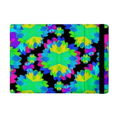 Multicolored Floral Print Geometric Modern Pattern Apple Ipad Mini Flip Case by dflcprints