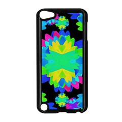 Multicolored Floral Print Geometric Modern Pattern Apple Ipod Touch 5 Case (black) by dflcprints