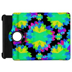 Multicolored Floral Print Geometric Modern Pattern Kindle Fire Hd Flip 360 Case by dflcprints