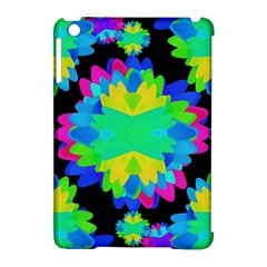 Multicolored Floral Print Geometric Modern Pattern Apple Ipad Mini Hardshell Case (compatible With Smart Cover) by dflcprints