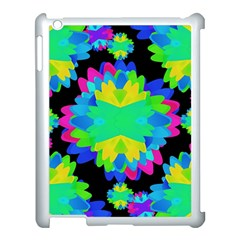 Multicolored Floral Print Geometric Modern Pattern Apple Ipad 3/4 Case (white) by dflcprints