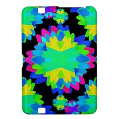 Multicolored Floral Print Geometric Modern Pattern Kindle Fire Hd 8 9  Hardshell Case by dflcprints