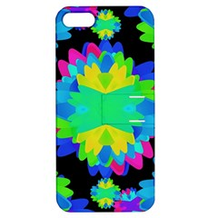 Multicolored Floral Print Geometric Modern Pattern Apple Iphone 5 Hardshell Case With Stand by dflcprints