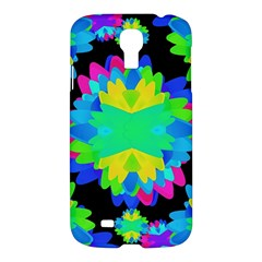 Multicolored Floral Print Geometric Modern Pattern Samsung Galaxy S4 I9500/i9505 Hardshell Case by dflcprints