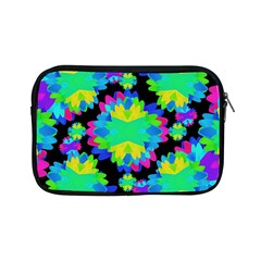 Multicolored Floral Print Geometric Modern Pattern Apple Ipad Mini Zippered Sleeve by dflcprints