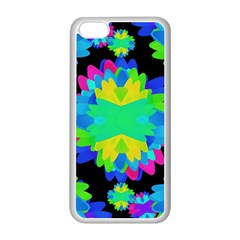 Multicolored Floral Print Geometric Modern Pattern Apple Iphone 5c Seamless Case (white) by dflcprints