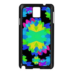 Multicolored Floral Print Geometric Modern Pattern Samsung Galaxy Note 3 N9005 Case (black) by dflcprints