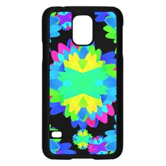 Multicolored Floral Print Geometric Modern Pattern Samsung Galaxy S5 Case (black) by dflcprints