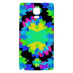 Multicolored Floral Print Geometric Modern Pattern Samsung Note 4 Hardshell Back Case by dflcprints
