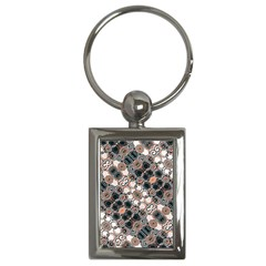 Modern Arabesque Pattern Print Key Chain (rectangle) by dflcprints