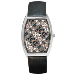 Modern Arabesque Pattern Print Tonneau Leather Watch by dflcprints